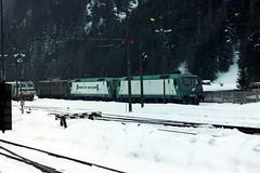 645.033, 412.011, 412.013 & 652.011 Brennero 03-03-01 (Tin Wis Vin) Tags: locos railways fs italy brennero brenner e645 e412 e652