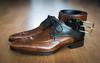 New shoes (bramtop_1990) Tags: shoes schoenen stappers van bommel calf brown leather size 9 twotone belt combination ff nikon d610 sigma 50mm f14 art
