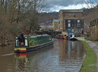 Canal Traffic In Todmorden.