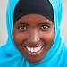 Portrait of a somali girl wearing a blue hijab, Woqooyi Galbeed region, Hargeisa, Somaliland