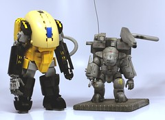 Dorvack (SPARKART!) Tags: lego dorvack poweredarmor exosuit armor powered sparkart model toy scifi sciencefiction 80s robot