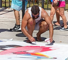 Guys painting the street (LarryJay99 ) Tags: 2018 lakeworthstreetpaintingfestibal urban festivals crowds florida people men male man guy guys dude dudes mantags manly virile studly stud masculine sexyman peeking peekingpits knees quatting sunglasses flipflops toses barefuss barefoot feet toes handsome beard facialhair mustasch arms tatts sagget hairyarms hairylegs wasteban