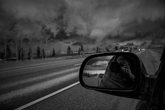 2018.04.21_111/365 - follow the storm (somewhere in Russia) (Taema) Tags: bw bwphd2018 blackandwhite russia storm road spring sky