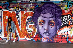 Street Art, South Bank London. (scats21) Tags: