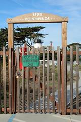 IMG_7700 (mudsharkalex) Tags: california pacificgrove pacificgroveca pointpinoslighthouse lighthouse faro gate closed