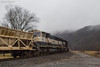 In the Tree Tops (nrvtrains) Tags: northfork whitethornedistrict ballast mountains prlx overcast 923 northforkrd norfolksouthern empty christiansburg virginia unitedstates us