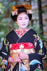 Maiko Mizuno (Fukushima Okiya) of Gion Kobu on the day of her Misedashi (balbo42) Tags: 2018 kyoto misedashi gion kobu japon fukushimaokiya maiko okiya mizuno xh1 fujifilm japan