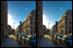 Berlin-Mitte 3-D / Stereoscopy / CrossView / HDRaw (Stereotron) Tags: berlin spreeathen mitte metropole hauptstadt capital metropolis brandenburg city urban streetphotography cars sunset crosseye crosseyed crossview xview cross eye pair freeview sidebyside sbs kreuzblick 3d 3dphoto 3dstereo 3rddimension spatial stereo stereo3d stereophoto stereophotography stereoscopic stereoscopy stereotron threedimensional stereoview stereophotomaker stereophotograph 3dpicture 3dglasses 3dimage twin canon eos 550d yongnuo radio transmitter remote control synchron kitlens 1855mm tonemapping hdr hdri raw