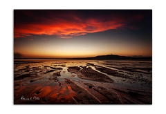 Red Sky Reflected (RonnieLMills) Tags: sunset red sky reflected reflections strangford lough scrabo tower low tide mud portaferry road newtownards