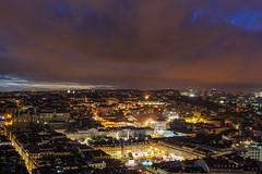 Central Lisbon from the castle hill (Oleg S .) Tags: night cityscape lisbon skyline