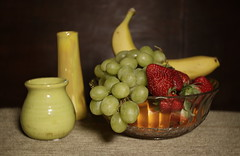 The ubiquitous bowl of fruit (N.the.Kudzu) Tags: home tabletop stilllife pottery bowl fruit canon70d lensbabyburnside35