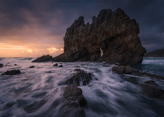 Portizuelo (Asturias, Spain) (Tomasz Raciniewski) Tags: seascape luarca portizuelo rock water ocean landscape sea dusk sunset coast wave bay spain asturias sky mar shore clouds blue light orange