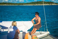 Amanda & Tracey enjoying the smooth sailing.