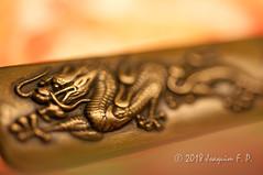 Golden Dragon (Joaquim F. P.) Tags: macromondays onceuponatime fantasy tale legend macro metal asia china nikon micronikkor 60mm 60mmf28dmicro led joaquimfp historia leyenda fantasia fantástico dorado golden bokeh