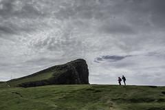 Two Against Nature (PetterPhoto) Tags: isleofskye pettersandell petterphoto scotland neistpoint two people sky green shapes landscape nature summer july