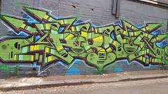 Porno... (colourourcity) Tags: streetartaustralia streetartnow streetart graffiti melbourne burncity awesome colourourcity nofilters original burner bunsen letters porno pornograffixxx safehousestudio id sio cdf led green