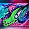 Dragon Sharks (MattCrux) Tags: dragonart sharkart reptilelovers alligator lizards fantasyart alienart spaceart cosmicart intergalactic abstracts psyart psychedelicart acidart abstractart