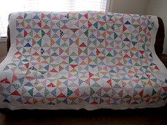 A BEAUTY! (Patchwork Daily Desire) Tags: quilting quilt quilted quilts vintagequilt visit village red antiquequilts patchworkdailydesire flower dresses giftideas girls scraps spring sky white cozy cotton