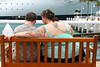 Bench at the Port (Colorado Sands) Tags: people bench florida keywest floridakeys usa tats tattoo cruiseship port bodyink sandraleidholdt hbm supersize heavyweights vacationers overweight bbw chubby chubbywomen couple