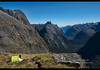 Incredible views from the Gertrude Saddle, Fjordland, New Zealand (jitenshaman) Tags: travel destination worldlocations oceania newzealand southisland outdoors nature natural hiking hike tramping tramp walking thegreatoutdoors fjordland gertrudesaddle view vista milford milfordsound mountains mountain darren darrenmountains steep sound tent tents camp camping scenery scenic gertrudesaddletrack track trail