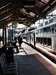 Final Stop (Professor Bop) Tags: metronorthcommuterrailroad train milfordconnecticut railroad railway station track passengers olympusem1 professorbop drjazz mosca