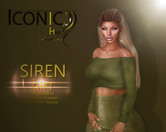 SIREN_banner (Neveah Niu /The ICONIC Owner) Tags: iconic iconiccouture icon hair hairsl hairstyles secondlife second group groupgift gift 3dart 3dmesh zbrush blender photoshop