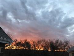 Good Friday Sunset - County Clare, Ireland. (firehouse.ie) Tags: shadows trees hills ennis ireland holyweek eastertime easter goodfriday 2018 spring march nature horizon sun sky evening dusk sundown sunset