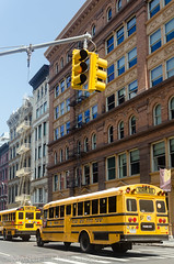 School Bus (ManuelHurtado) Tags: countries ny nyc newyork places america architecture building bus cast city cityscape facade hebrew historic iron jew jewish manhattan old school soho street tourism traffic urban usa estadosunidos us