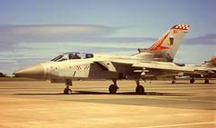 Ton up chaps (crusader752) Tags: raf royalairforce no56squadron thefirebirds panavia tornado f3 zg774wk spare ze738wb rnasculdrose airday adv mrca raf100
