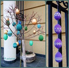 easter decoration collage (polelena24) Tags: easter egg knitting decoration