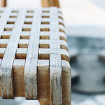 Detail of wooden chair. Close up. thumbnail