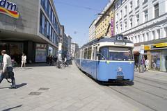 P-Wagen 2006 in der Dachauer Straße (marcus.boelt) Tags: pwagen pp dachauerstrase hauptbahnhof münchen mvg 2006 tram trambahn tramway strasenbahn