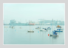 FALMOUTH HARBOUR (Barry Haines) Tags: falmouth harbour cornwall boats ships mist sony 85mm gm a7rii a7r2 flickrsbest