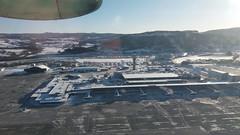 Take off from Trondheim (Chickenhawk72) Tags: flight wf 713 canada dhc8 dash 8300 brønnøysund trondheim airport window seat norway snow winter