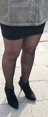 MyLeggyLady (MyLeggyLady) Tags: hotwife sexy milf teasing secretary cfm stiletto boots miniskirt ass holdups stockings legs heels