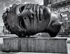 Someone's lost his head (David Feuerhelm) Tags: blackandwhite bw monochrome schwarzundweiss noiretblanc contrast head sculpture d750 wideangle art nikon 2470mmf28 krakow