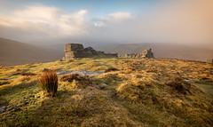 First Light (Richard Davy - The World As I See It) Tags: hookneytor dartmoor devon moor rock rocks tor moorland grass reeds stones sky mist clouds sunrise light landscape outdoor