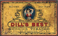 Dill's Best Smoking Tobacco Tin (Edlunddesign) Tags: tobacco ephemera vintage 1930s dillsbest smoking usa richomond virginia packagedesign tin english gdillco liesure cigarette pipesmoking graphicdesign illustrated
