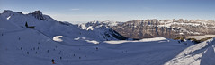 View from Maschgenkamm (Thomas Mülchi) Tags: 2017 ch cantonofstgallen churfirstenmountainrange flumserberg landscape maschgenkamm mountain mountains panorama people person persons switzerland blue bluesky clear clearsky panoramic skislopes sky snow snowy sunny tourists winter quarten sanktgallen