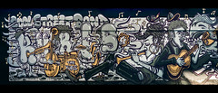 Cool street band (Melissa Maples) Tags: münchen munich deutschland germany europe nikon d3300 ニコン 尼康 sigma hsm 1020mm f456 1020mmf456 winter widescreen letterbox panoramic panorama graffiti streetart art streetartgallery donnersbergerbrücke thekürls coolstreetband