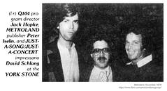 1978 Jack Hopke, Peter Iselin, David Schlang (albany group archive) Tags: albany ny metroland 1978 jack hopke peter iselin david schlang old vintage photos picture 1970s photo photograph history historic historical