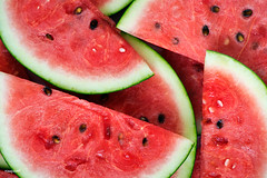 Slices of juicy red watermelon (rawpixel.com) Tags: background bright closeup delicious dessert diet energy food fresh freshness fruit healthy ingredient juicy macro melon name natural nature nutrition nutritious organic pattern raw red refreshment ripe season seasonal seasonalfood seed slice summer summertime sweet taste tasty texture textured tropical vitamin wallpaper watermelon watermelonbackground watermelonslice yummy