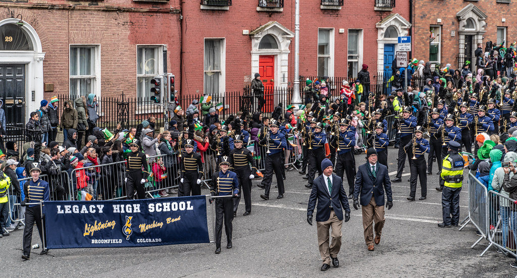 Legacy High School Lightning Marching Band [St. Patricks Day Parade 2018 In Dublin]-137527