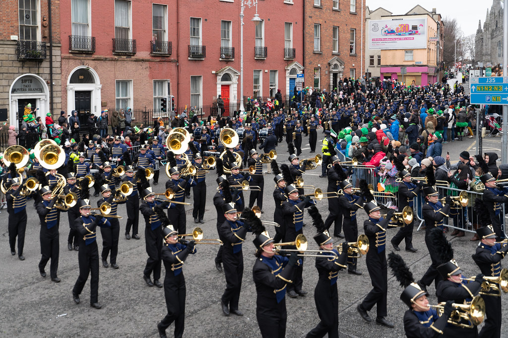 Legacy High School Lightning Marching Band [St. Patricks Day Parade 2018 In Dublin]-137530