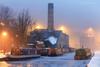 Milltown V (calderdalefoto) Tags: hebdenbridge winter westyorkshire yorkshire canal calderdale mill chimnet barges boats