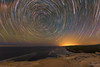 Gravity (Crouchy69) Tags: startrails star trails lines long exposure night dark low light landscape seascape balconies bundeena cliffs sydney australia