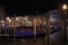 Venetian paths 82(Rialto bridge) (Maurizio Fecchio) Tags: venice venezia bridge rialto italia italy gondola lights nikon night nightcity niceshot city cityscape città travel longexposure