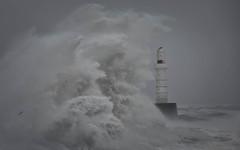 South Breakwater 03 (avaird44) Tags: south breakwater sea rough storm coastline coast beacon harbour waves water aberdeen scotland