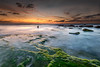 Palmachim Beach at Sunset V (stollman_ron) Tags: seascape travel nikon d600 sea sky clouds longexposure israel rocks