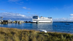 Ferry Arrives at Vineyard Haven (David E Henderson) Tags: massachusetts unitedstates vineyardhaven marthasvineyard islandhome ferry